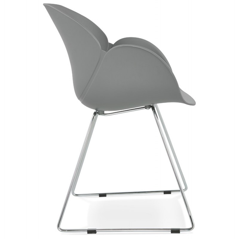 Design chair foot tapered ADELE polypropylene (light gray) - image 36986