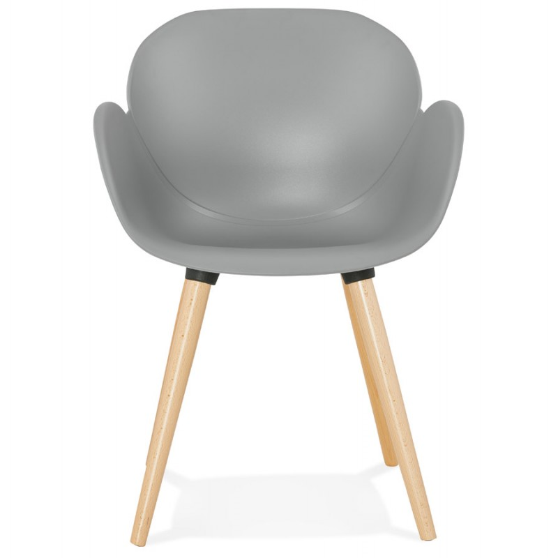 Design chair style Scandinavian LENA polypropylene (light gray) - image 36998