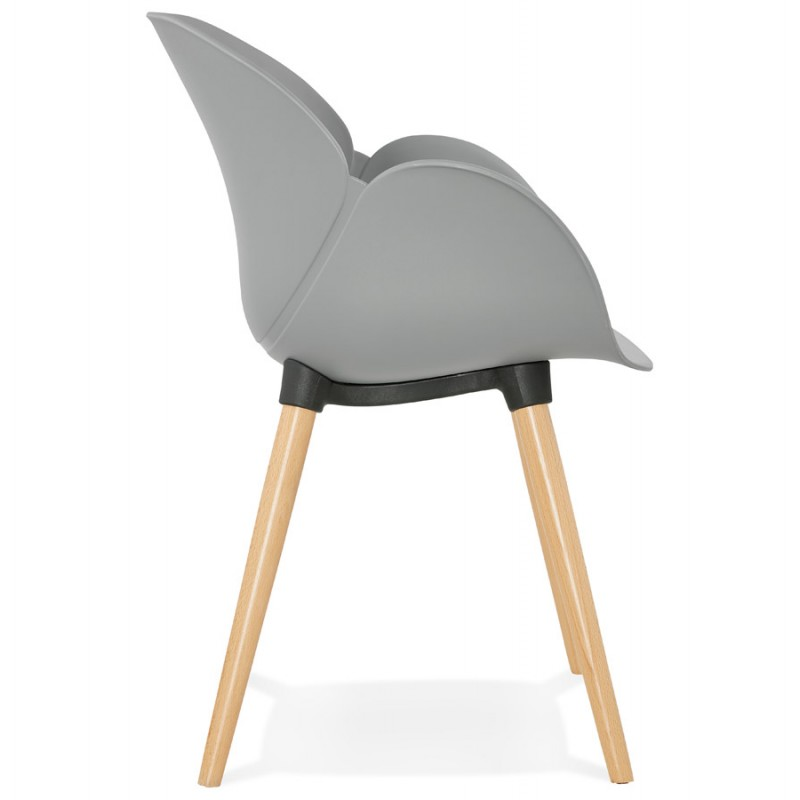 Design chair style Scandinavian LENA polypropylene (light gray) - image 36999