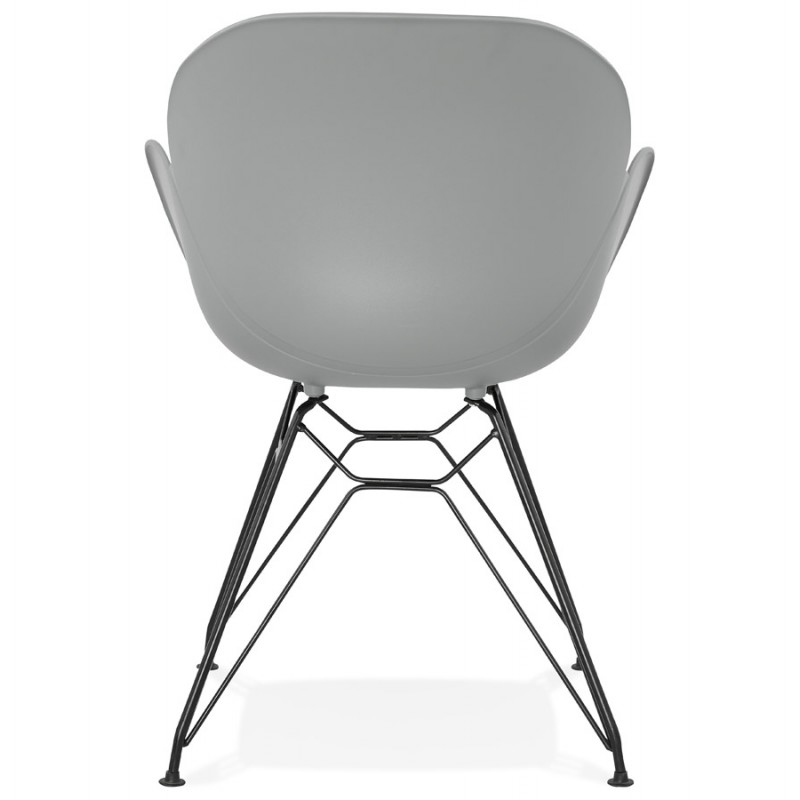 Design chair industrial style TOM polypropylene foot black metal (light gray) - image 37014