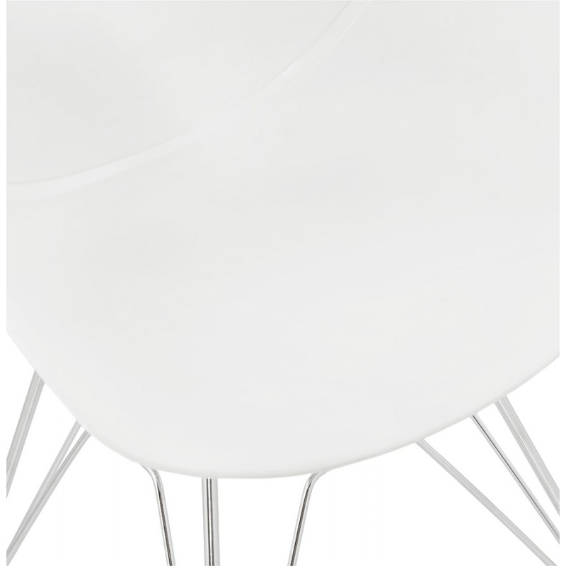 Design chair industrial style TOM polypropylene foot chromed metal (white) - image 37029