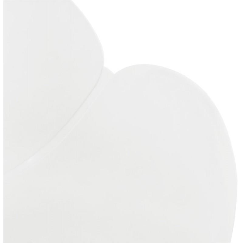 Silla de diseño estilo industrial polipropileno TOM pie de metal cromado (blanco) - image 37030
