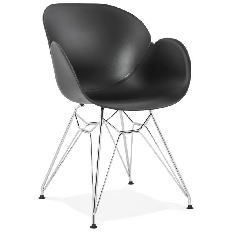 Design stuhl industriellen stil tom polypropylen fu for Design stuhl metall