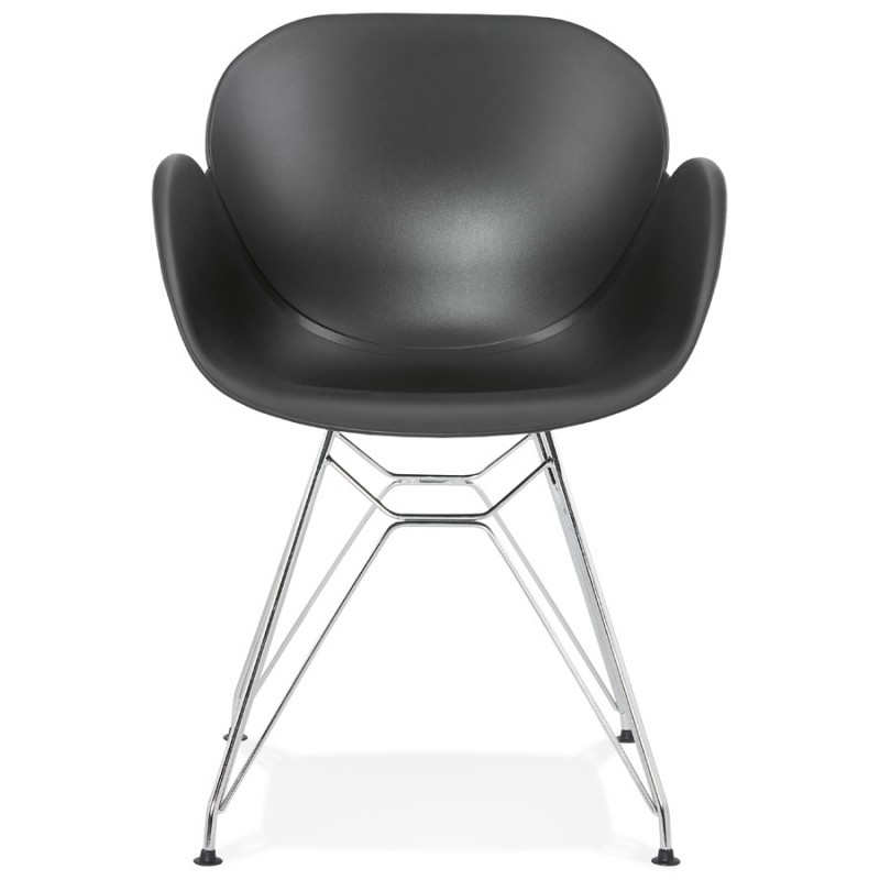 Design chair industrial style TOM polypropylene foot chromed metal (black) - image 37037