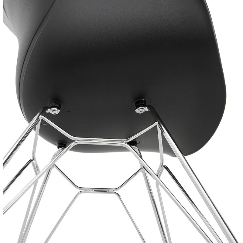 Design chair industrial style TOM polypropylene foot chromed metal (black) - image 37044