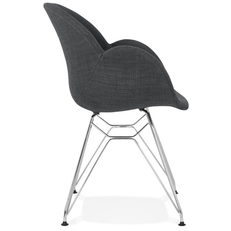 Design chair industrial style TOM fabric foot chromed metal (dark gray) - image 37052