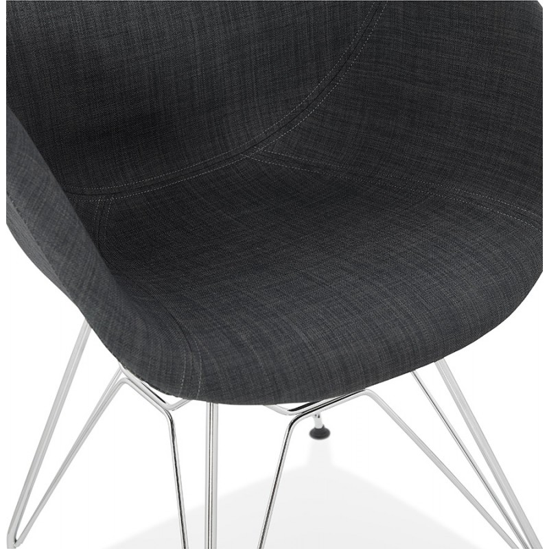 Design chair industrial style TOM fabric foot chromed metal (dark gray) - image 37055