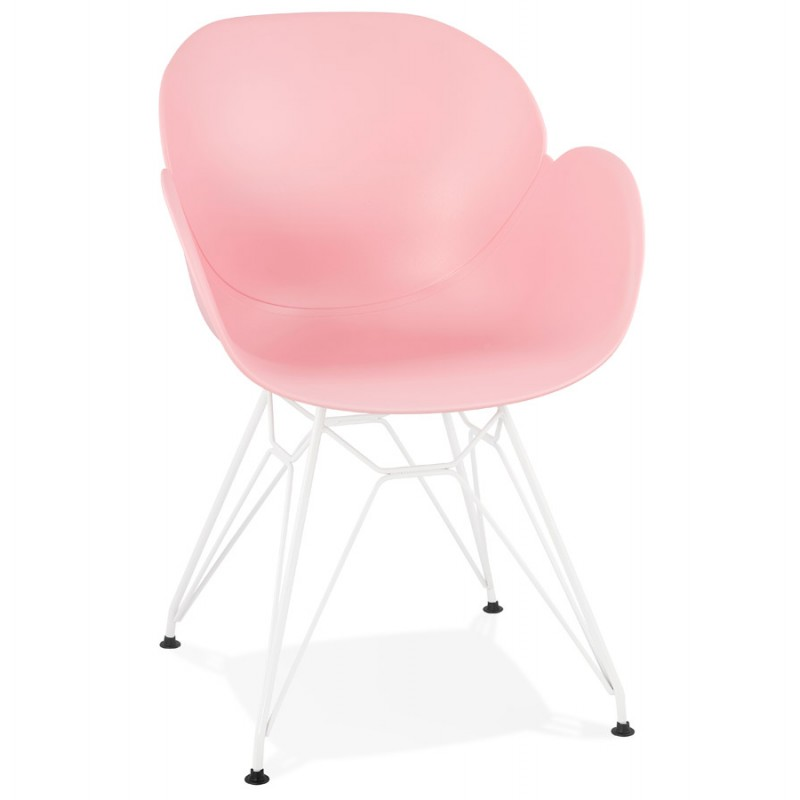 Chair design and modern TOM polypropylene foot white metal (powder pink) - image 37064