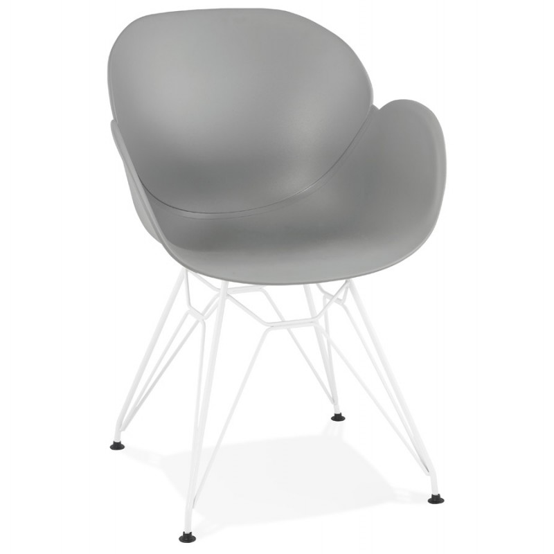 Chair design and modern TOM polypropylene foot white metal (light gray) - image 37087