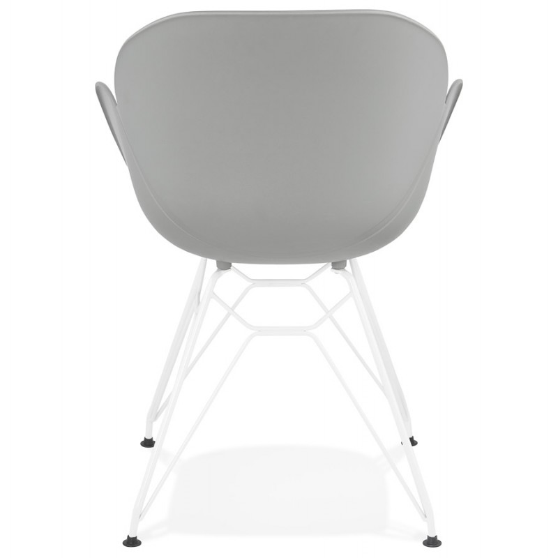Chair design and modern TOM polypropylene foot white metal (light gray) - image 37091