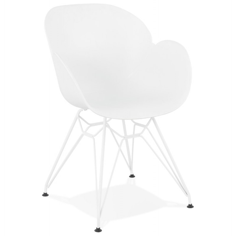 Design chair and moderne TOM polypropylene foot (white) white metal - image 37099