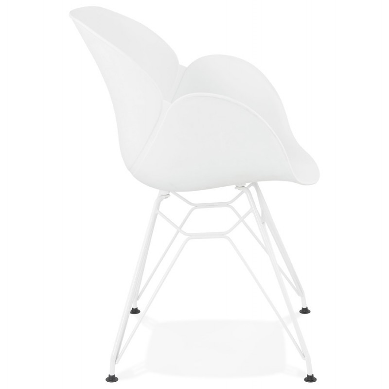 Design chair and moderne TOM polypropylene foot (white) white metal - image 37101
