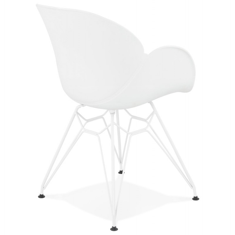 Design chair and moderne TOM polypropylene foot (white) white metal - image 37102