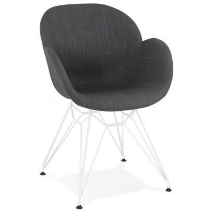 Design chair and TOM modern fabric foot white metal (dark gray)