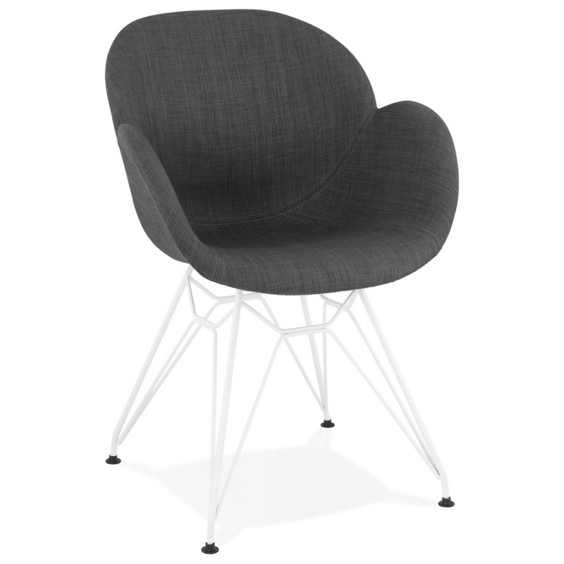 Design chair and TOM modern fabric foot white metal (dark gray) - image 37124
