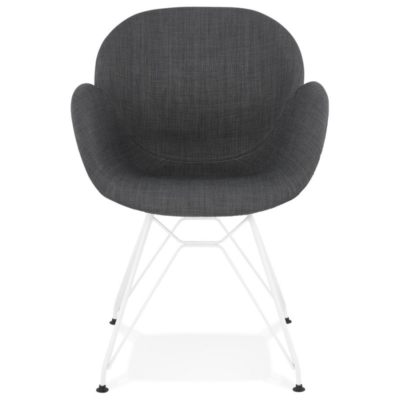 Design chair and TOM modern fabric foot white metal (dark gray) - image 37125