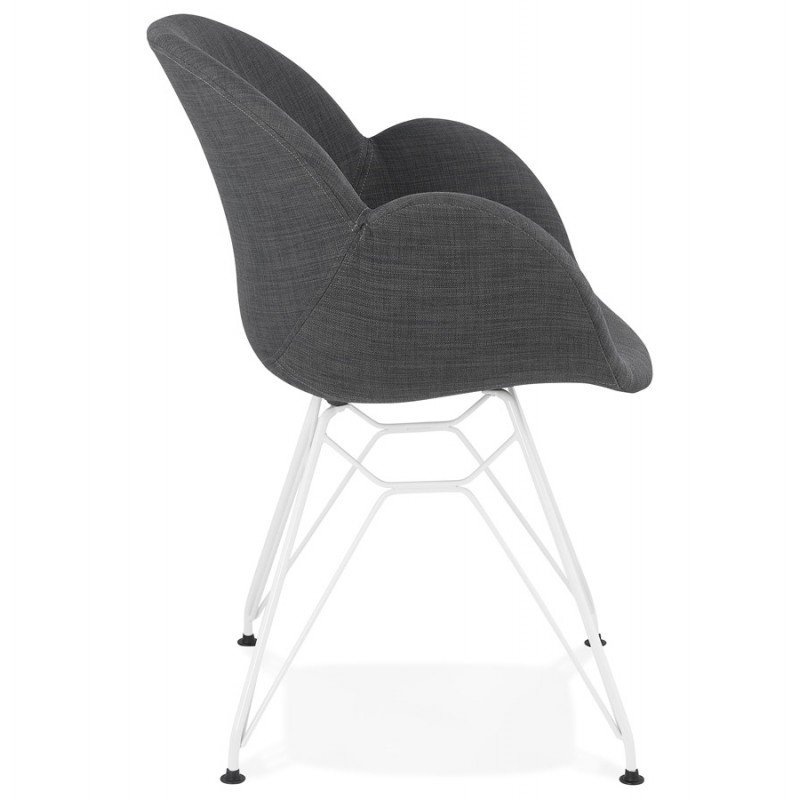 Design chair and TOM modern fabric foot white metal (dark gray) - image 37126