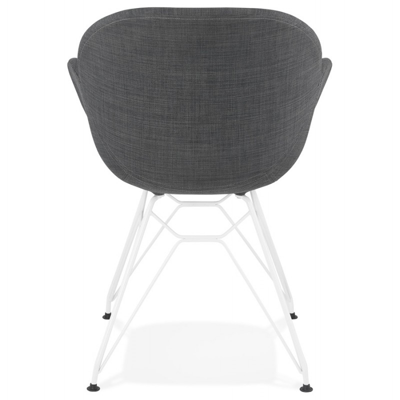 Design chair and TOM modern fabric foot white metal (dark gray) - image 37128