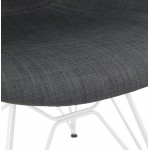 Design chair and TOM modern fabric foot white metal (dark gray)
