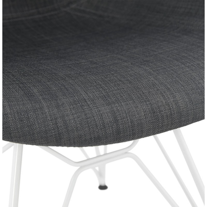 Design chair and TOM modern fabric foot white metal (dark gray) - image 37131