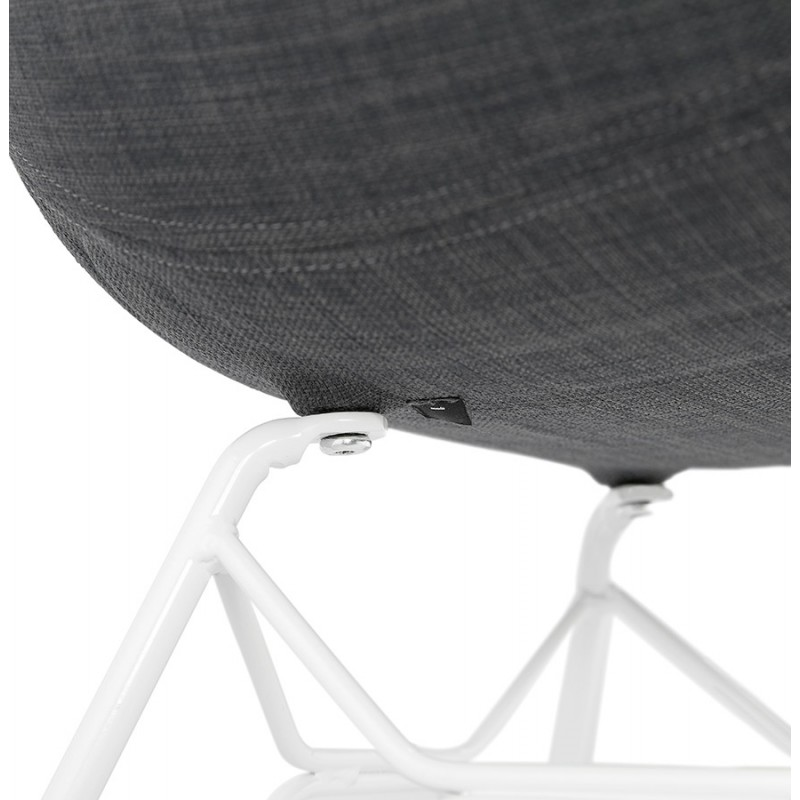 Design chair and TOM modern fabric foot white metal (dark gray) - image 37135
