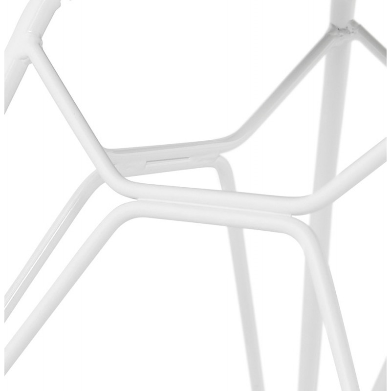 Design chair and TOM modern fabric foot white metal (dark gray) - image 37137