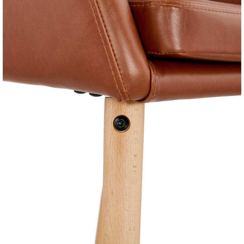 Chair with armrests PABLO (Brown) vintage - image 37148