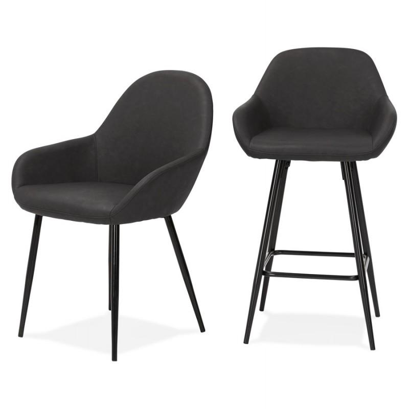 Sedia design e moderno SHELA (grigio scuro) - image 37182
