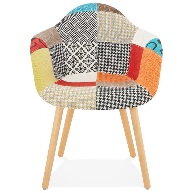 Design chair and Bohemia patchwork with armrests Ophelia in fabric (multicolor) - image 37184