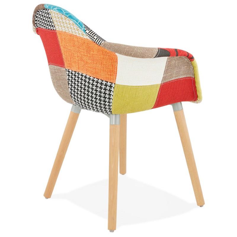 chaise design et boh me patchwork avec accoudoirs ophelie en tissu multicolore. Black Bedroom Furniture Sets. Home Design Ideas