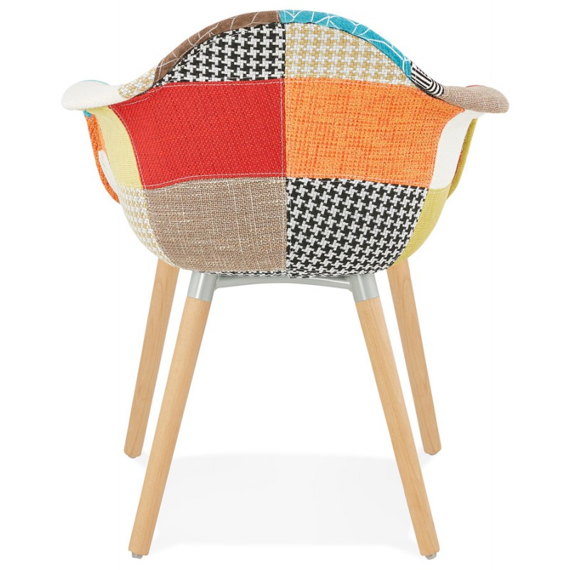 Design chair and Bohemia patchwork with armrests Ophelia in fabric (multicolor) - image 37187