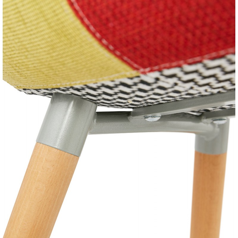 Design chair and Bohemia patchwork with armrests Ophelia in fabric (multicolor) - image 37196