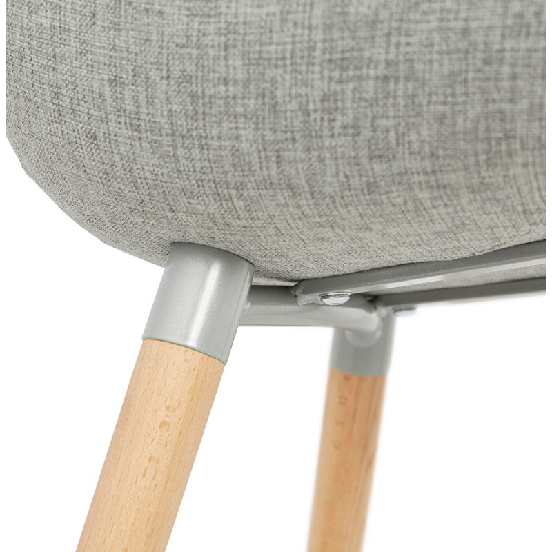 Scandinavian design chair with armrests Ophelia in fabric (light gray) - image 37213