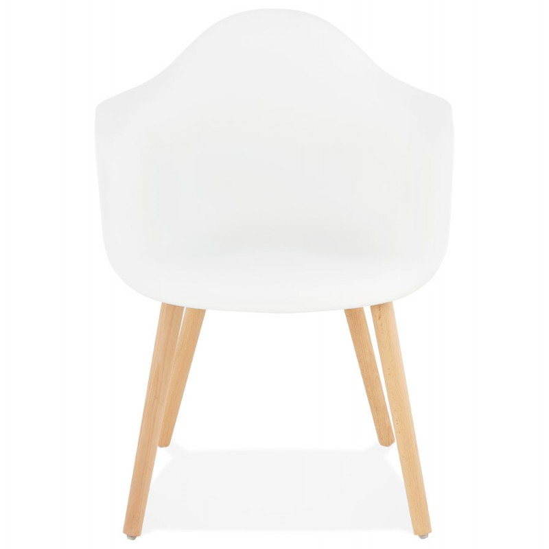Scandinavian design chair with armrests Ophelia polypropylene (white) - image 37357