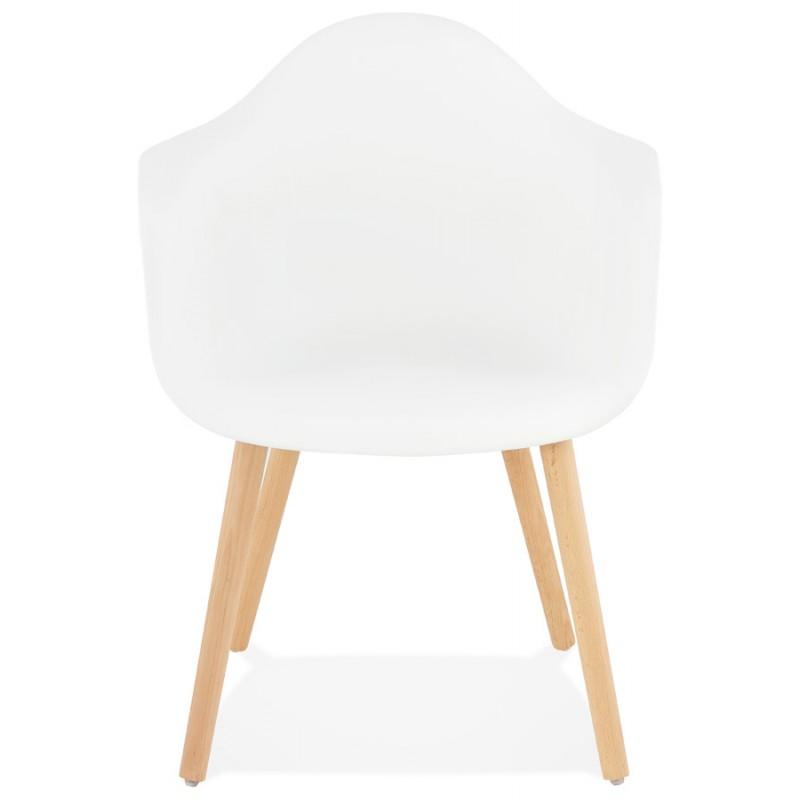 Skandinavisches Designstuhl mit Armlehnen Ophelia Polypropylen (weiß) - image 37357