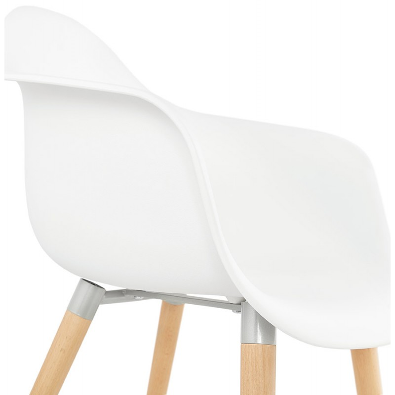 Sedia design scandinavo con polipropilene di braccioli Ophelia (bianco) - image 37363
