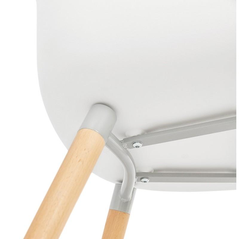 Sedia design scandinavo con polipropilene di braccioli Ophelia (bianco) - image 37366