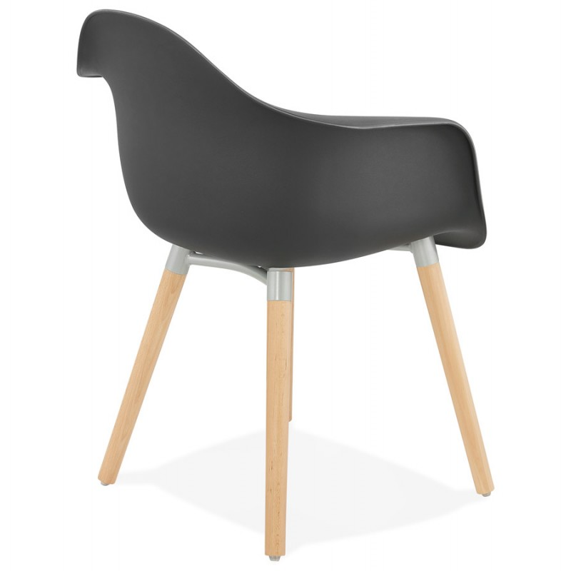 Scandinavian design chair with armrests Ophelia polypropylene (black) - image 37373