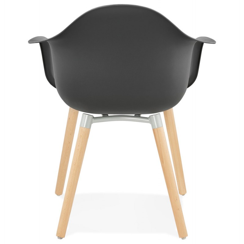 Scandinavian design chair with armrests Ophelia polypropylene (black) - image 37374