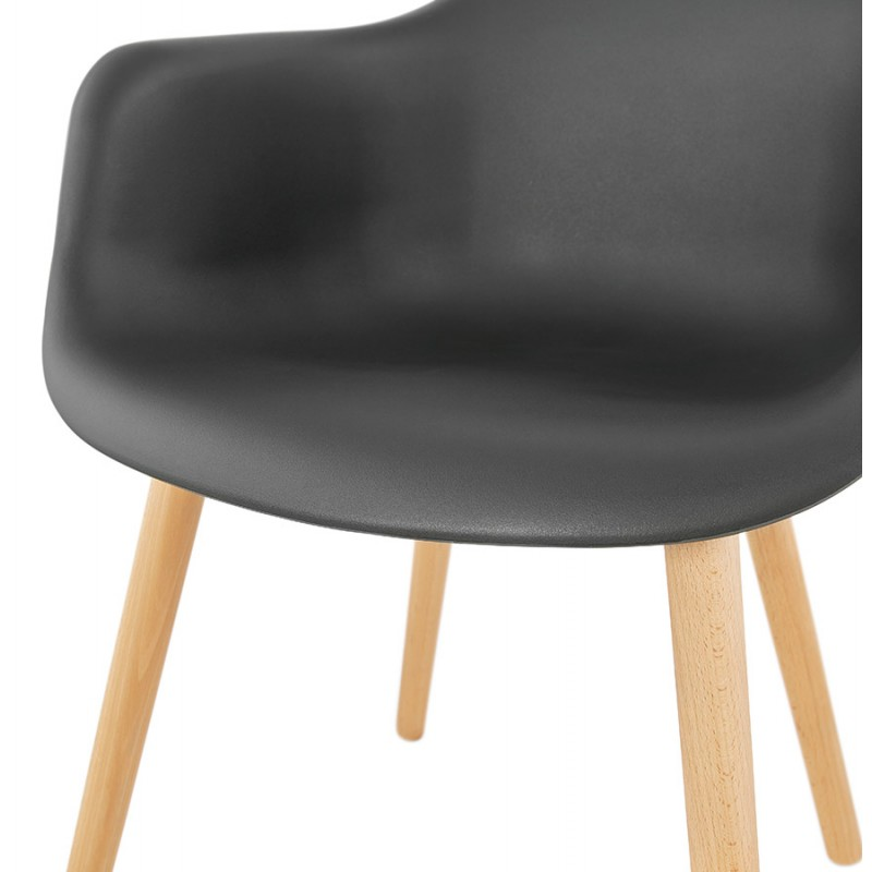 Scandinavian design chair with armrests Ophelia polypropylene (black) - image 37376
