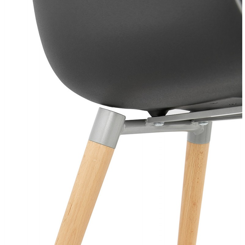 Scandinavian design chair with armrests Ophelia polypropylene (black) - image 37379
