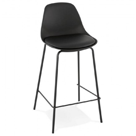 Bar bar halfway up industrial OCEANE MINI (black) chair stool