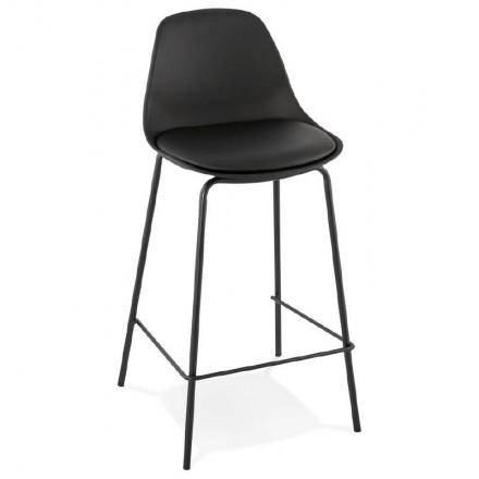 La barra hasta la mitad industrial taburete de la silla de OCEANE MINI (negro)