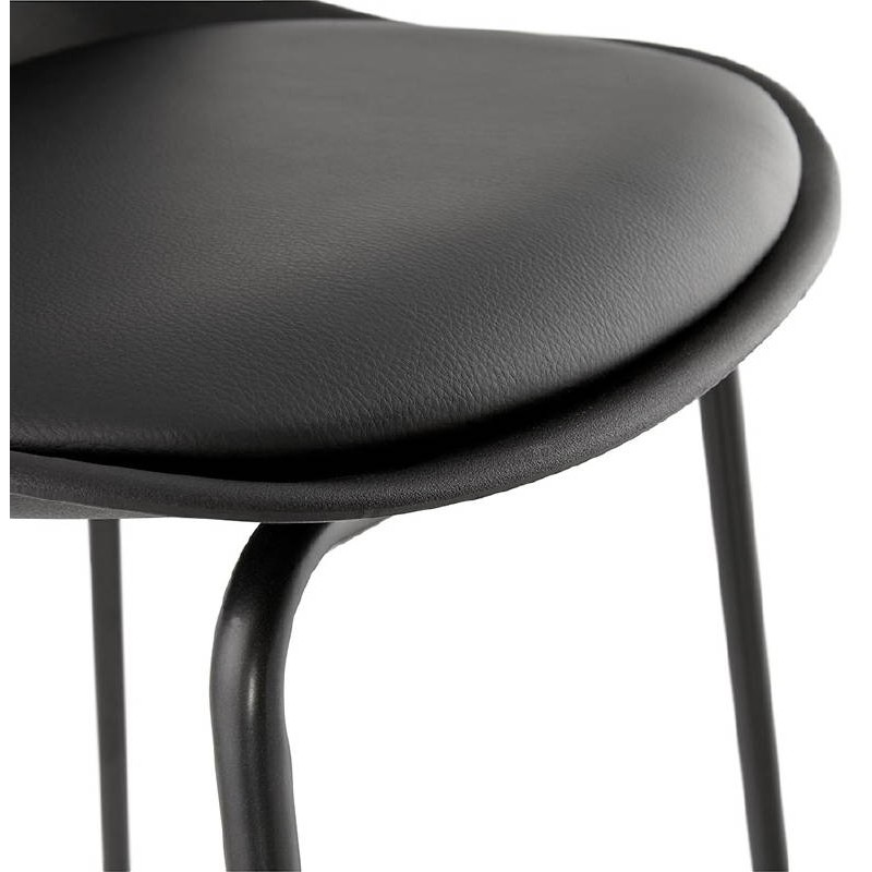 Bar bar halfway up industrial OCEANE MINI (black) chair stool - image 37388