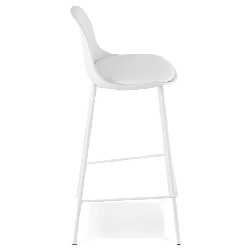 Bar bar halfway up industrial OCEANE MINI (white) chair stool - image 37397
