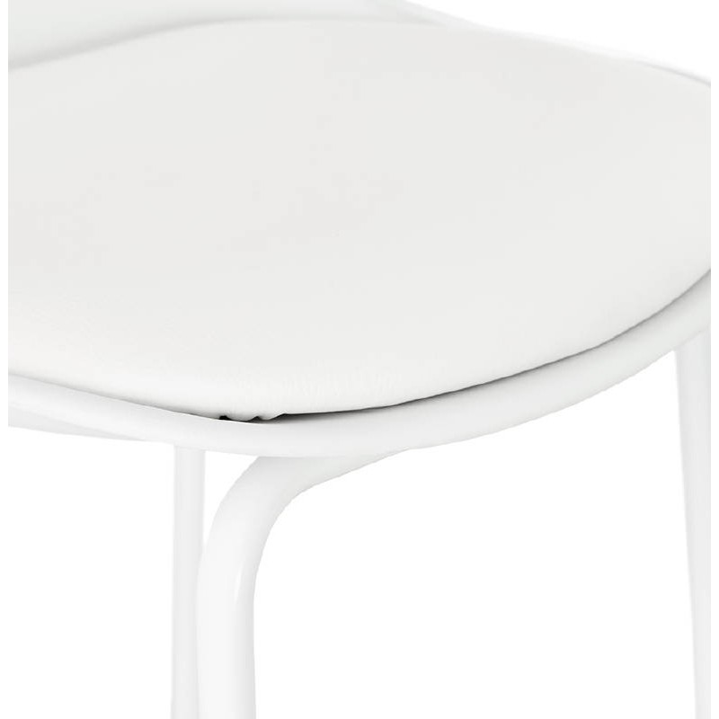 Bar bar halfway up industrial OCEANE MINI (white) chair stool - image 37401