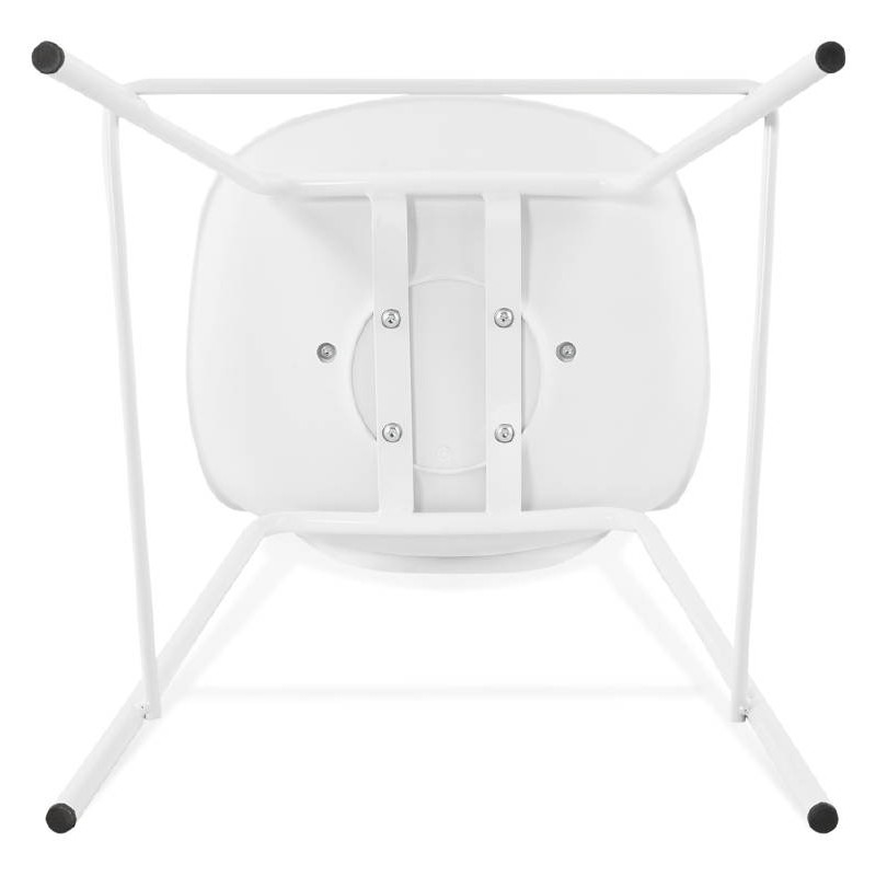 Bar bar halfway up industrial OCEANE MINI (white) chair stool - image 37406