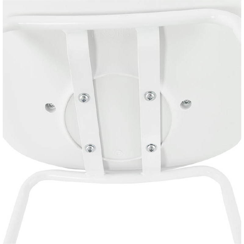 Bar bar halfway up industrial OCEANE MINI (white) chair stool - image 37407
