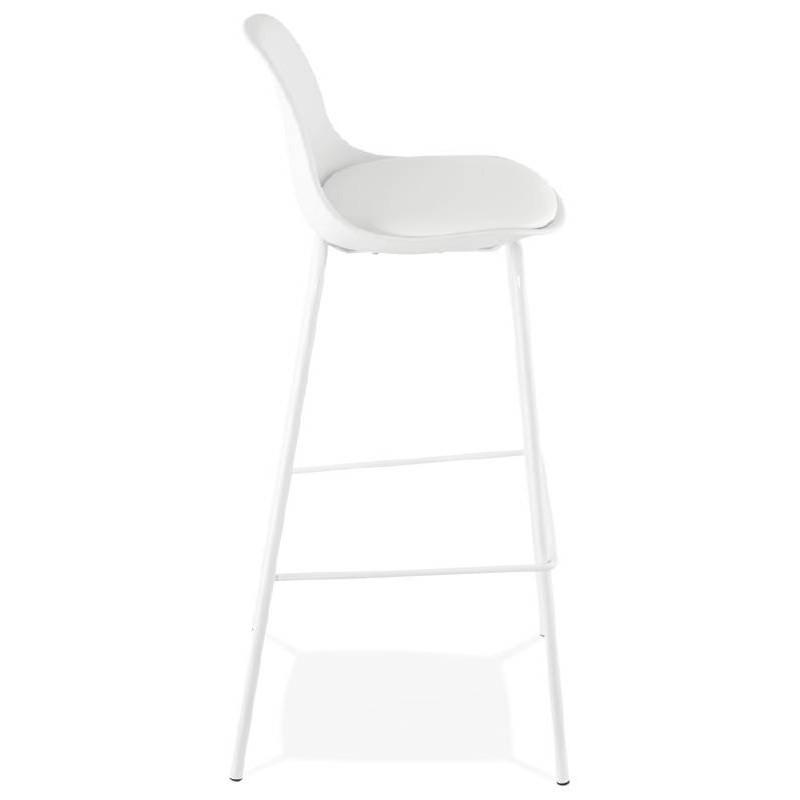 Tabouret de bar chaise de bar industriel OCEANE (blanc) - image 37422