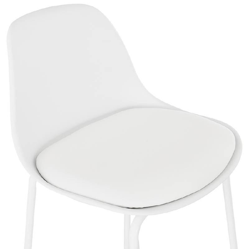 Tabouret de bar chaise de bar industriel OCEANE (blanc) - image 37425